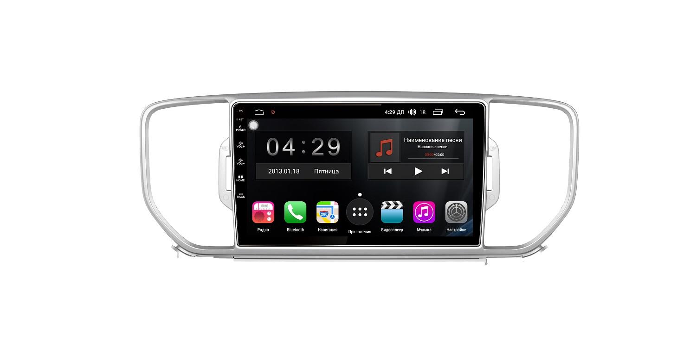 Штатная магнитола FarCar s300-SIM 4G для Kia Sportage IV 2016-2018 на Android (RG576R) (+ Камера заднего вида в подарок!) багажник на рейлинги integra аэро крыло дуги для kia sportage iv 2016