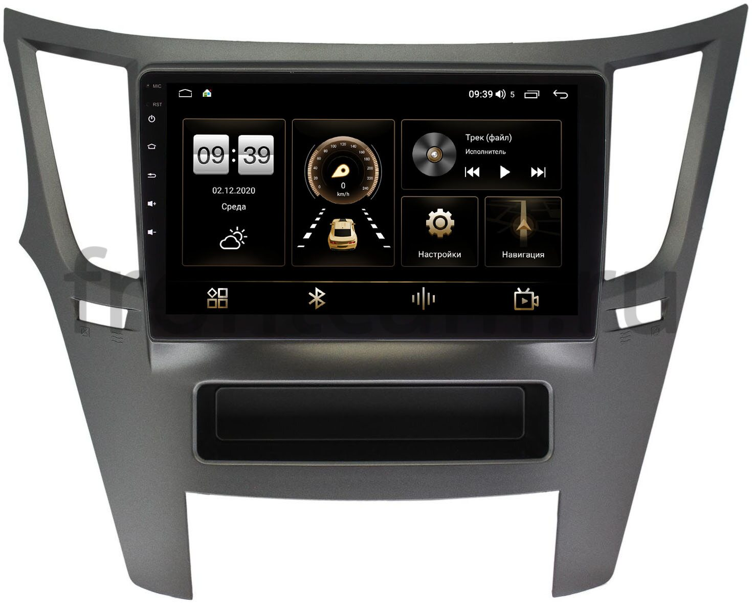 Штатная магнитола Subaru Legacy V 2009-2014, Outback IV 2009-2014 LeTrun 3792-9051 на Android 10 (4/64, DSP, QLed) С оптическим выходом (+ Камера заднего вида в подарок!)