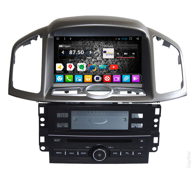 Штатная магнитола DayStar DS-7066HD Chevrolet Captiva 2012+ ANDROID 7.1.2 (8 ядер, 2Gb ОЗУ, 32Gb памяти)