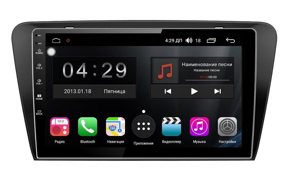 Штатная магнитола FarCar s300-SIM 4G для Skoda Octavia III (A7) 2013+ на Android (RG483R) (+ Камера заднего вида в подарок!) ковры в салон срк skoda octavia a7 2013