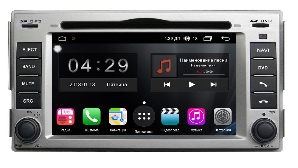 Штатная магнитола FarCar s300 для Hyundai Santa Fe 2006-2012 на Android (RL008) щетки стеклоочистителей лобового стекла зимние для santa fe 2006 2012