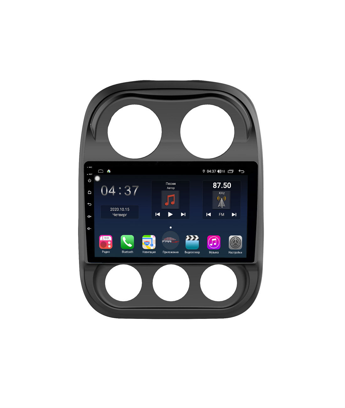 Штатная магнитола FarCar s400 для Jeep Compass I, Liberty на Android (TG1078R) (+ Камера заднего вида в подарок!)