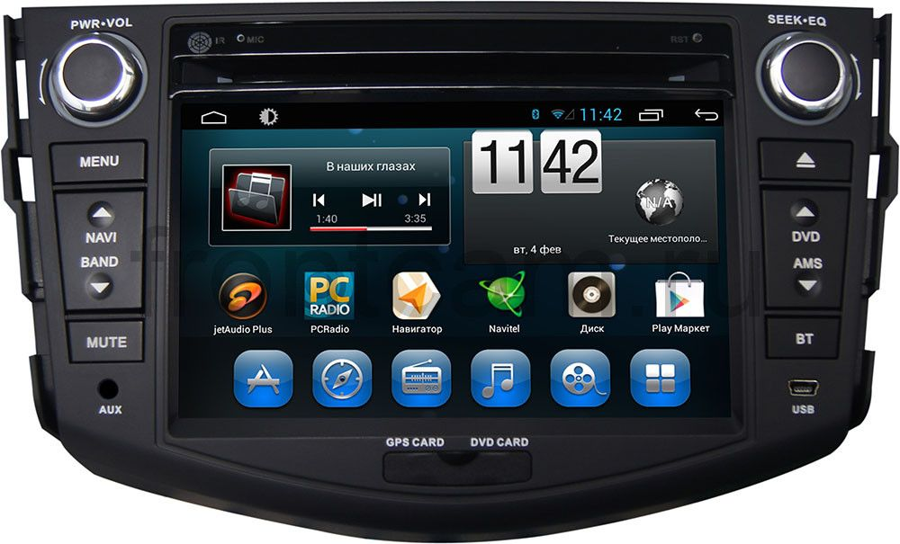 Штатная магнитола для Toyota RAV4 (XA30) 2006-2013 CARMEDIA KR-7037-T8 на Android 7.1 штатная магнитола carmedia kr 9005 t8 toyota camry v55 2014 2017 android 7 1 2