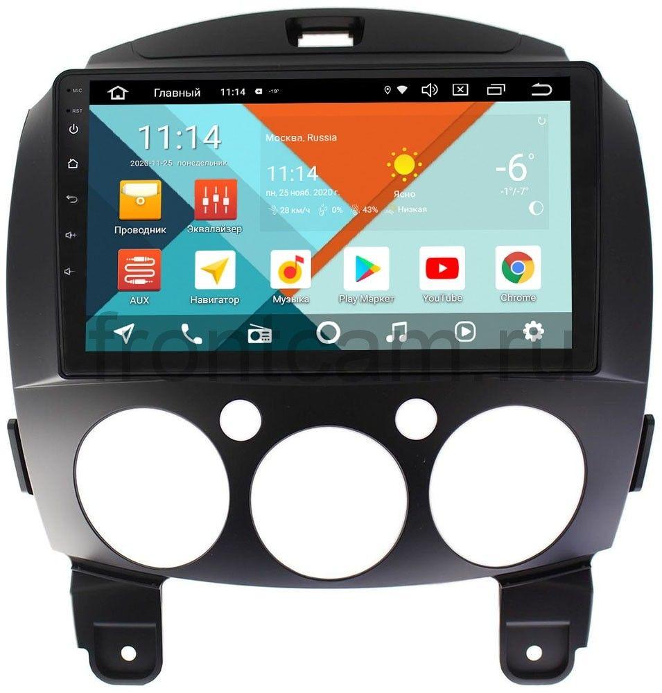 Штатная магнитола Mazda 2 II Wide Media KS9031QR-3/32 DSP CarPlay 4G-SIM на Android 10 (+ Камера заднего вида в подарок!)