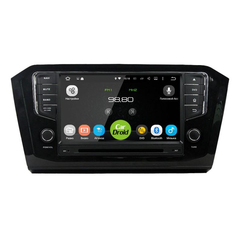 Штатная магнитола Roximo CarDroid RD-3713 для Volkswagen Passat 8 (Android 8.0) сенсорная (+ Камера заднего вида в подарок!) штатная магнитола roximo 4g rx 3707 для volkswagen polo android 6 0 камера заднего вида в подарок