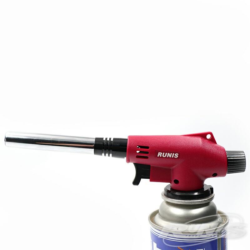 Газовая горелка RUNIS Premium P06, пьезо. (цанг.)/80/ (+ Антисептик-спрей для рук в подарок!)