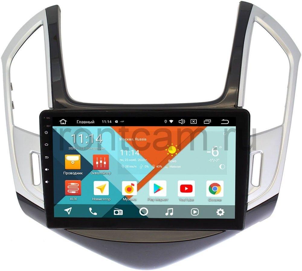 Штатная магнитола Chevrolet Cruze I 2012-2015 (черно-серый глянец) Wide Media KS9265QR-3/32 DSP CarPlay 4G-SIM на Android 10 (+ Камера заднего вида в подарок!)