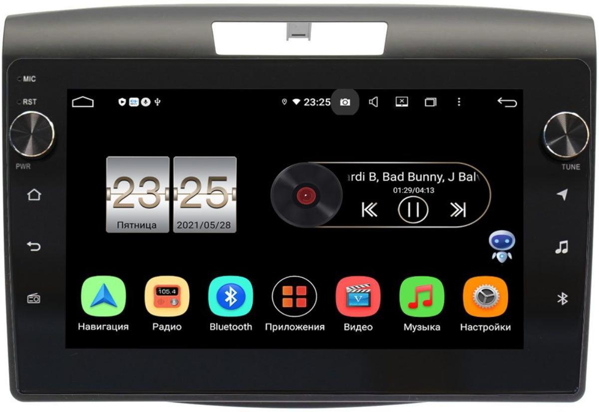 Штатная магнитола Honda CR-V IV 2012-2016 LeTrun BPX409-9419 на Android 10 (4/32, DSP, IPS, с голосовым ассистентом, с крутилками) (+ Камера заднего вида в подарок!)