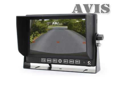 """Парковочный монитор 7"""" на приборную панель AVEL AVS4714BM (+ Антисептик-спрей для рук в подарок!)"""