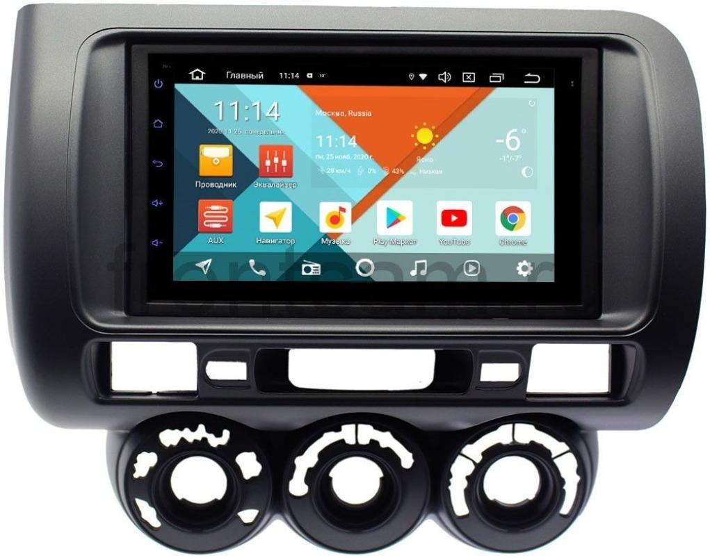 Штатная магнитола Honda Fit I, Jazz I 2001-2008 (правый руль, с кондиционером) Wide Media KS7116QR-3/32 DSP CarPlay 4G-SIM Android 10 (+ Камера заднего вида в подарок!)