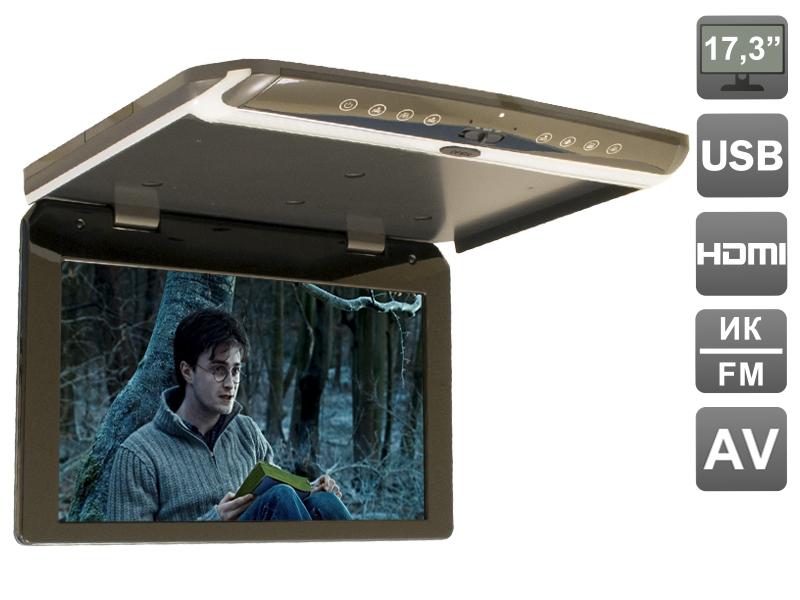 Автомобильный потолочный монитор 17,3 со встроенным FULL HD медиаплеером AVIS AVS1750MPP (Серый) стол приставка brother wt9