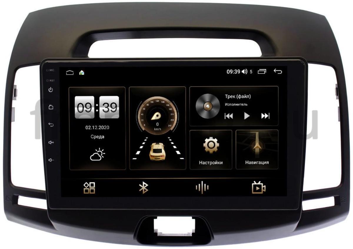 Штатная магнитола LeTrun 4166-9077 для Hyundai Elantra IV (HD) 2006-2011 (темно-серая) на Android 10 (4G-SIM, 3/32, DSP, QLed) (+ Камера заднего вида в подарок!)