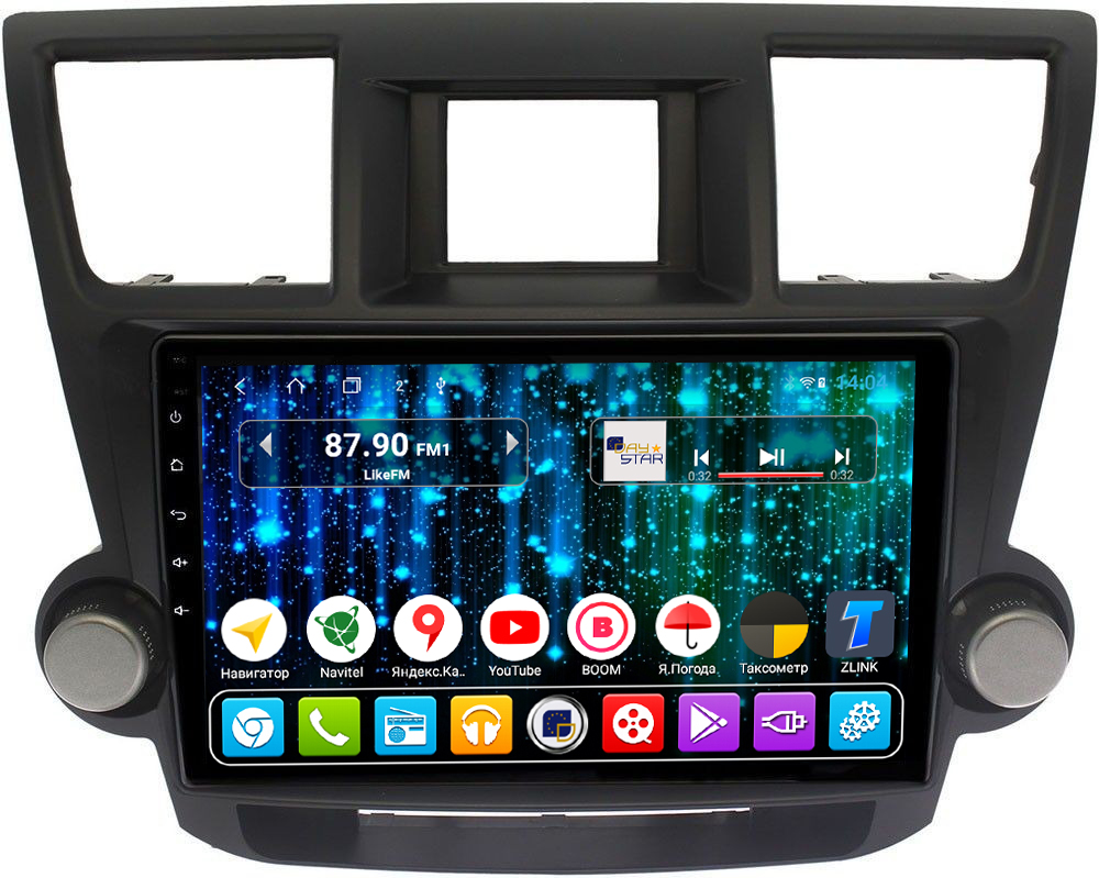 Магнитола для Toyota Highlander 2009-2014 DAYSTAR DS-7194HB-TS9 (+ Камера заднего вида в подарок!)