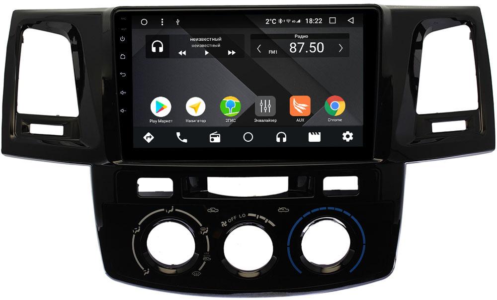 Штатная магнитола Toyota Hilux VII, Fortuner I 2011-2015 Wide Media CF9125-OM-4/64 на Android 9.1 (TS9, DSP, 4G SIM, 4/64GB) (+ Камера заднего вида в подарок!)