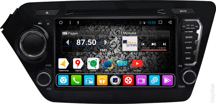 Штатная магнитола DayStar DS-7090HD Kia Rio 2012 ANDROID 8.1.0 (8 ядер, 2Gb ОЗУ, 32Gb памяти) pipo w4s dual boot 8 inch 2gb 32gb windows8 1
