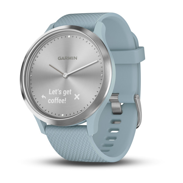 Смарт-часы Garmin vivomove HR, Sport, Silver with Seafoam Silicone