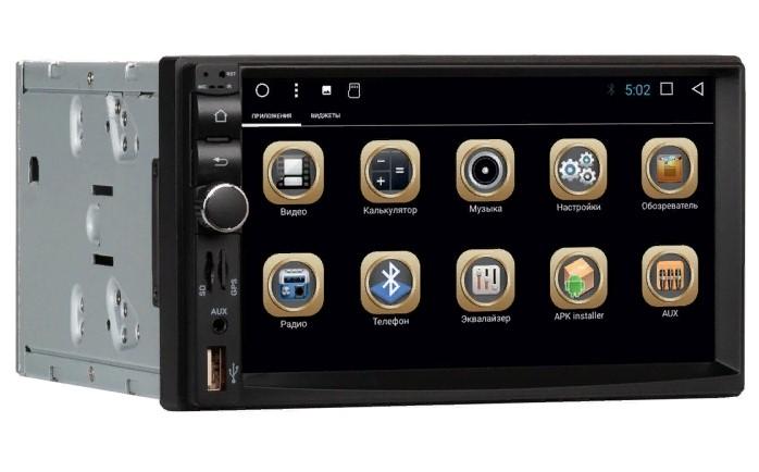 Штатное головное устройство Blackview A72 - универсальное 2DIN Android 7+