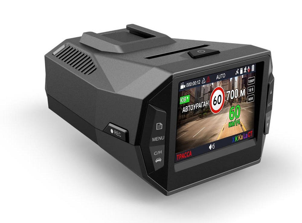 Видеорегистратор с радар-детектором Playme P600SG (+ Карта памяти microSD на 64 ГБ в подарок!)