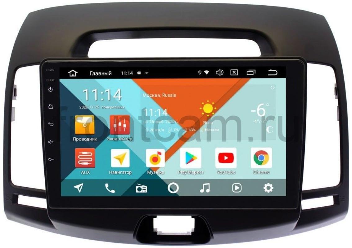 Штатная магнитола Wide Media KS9077QR-3/32 DSP CarPlay 4G-SIM для Hyundai Elantra IV (HD) (темно-серая) Android 10 (+ Камера заднего вида в подарок!)
