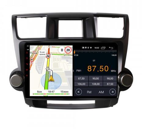 Штатная магнитола Parafar для Toyota Highlander 2007-2012 на Android 8.1.0 (PF035LTX) (+ Камера заднего вида )