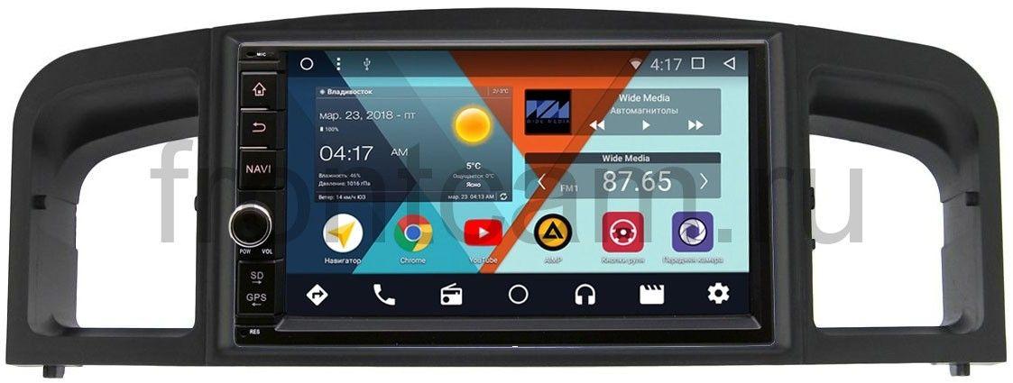 Штатная магнитола Wide Media WM-VS7A706NB-RP-LF620-18 для Lifan Solano I (620) 2010-2014 Android 7.1.2