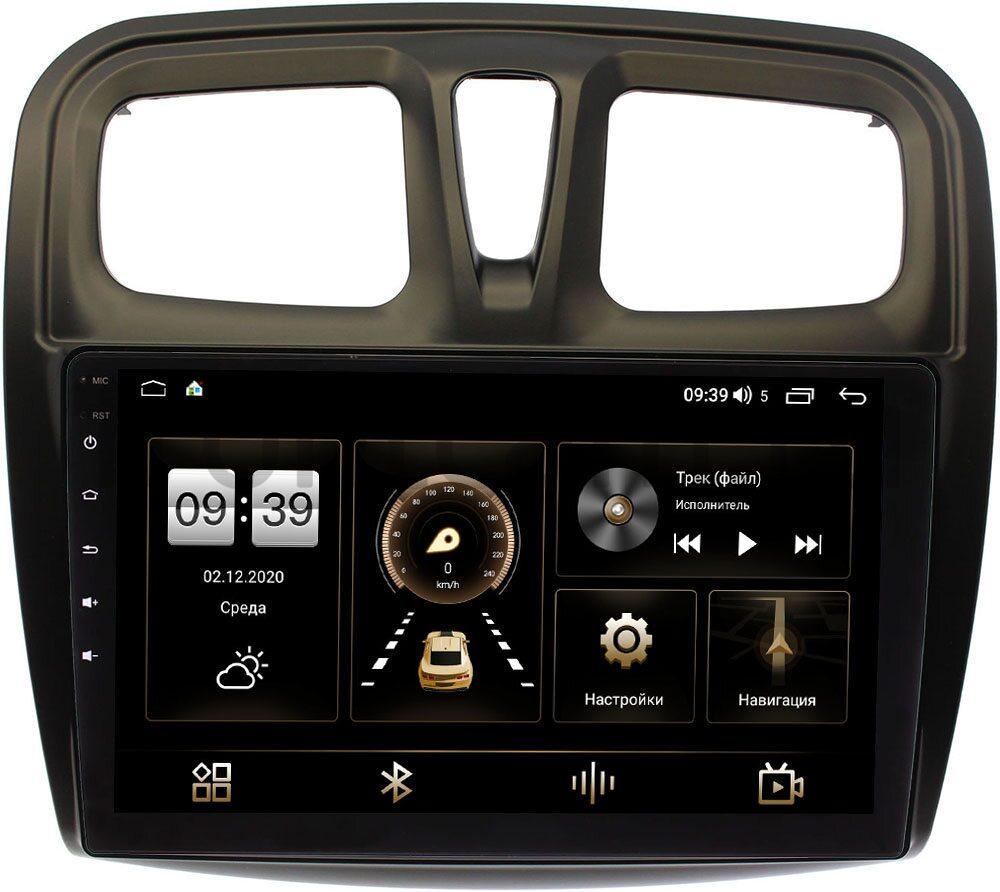 Штатная магнитола Renault Logan II 2013-2020, Sandero II 2013-2020 LeTrun 4195-1090 на Android 10 (6/128, DSP, QLed) С оптическим выходом (+ Камера заднего вида в подарок!)