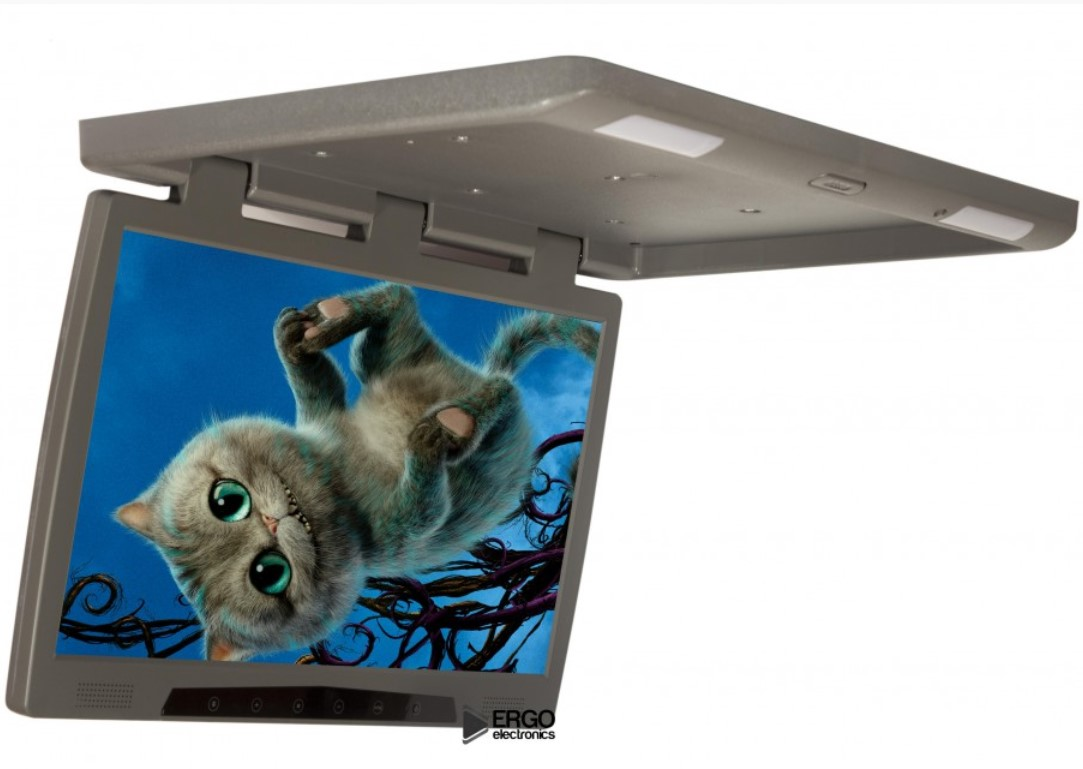 Фото - Автомобильный потолочный монитор 20 ERGO ER20H (1680x1050) серый (+ Двухканальные наушники в подарок!) потолочный монитор для автомобиля с электроприводом 13 3 xm 1360rdud gray двухканальные наушники в подарок
