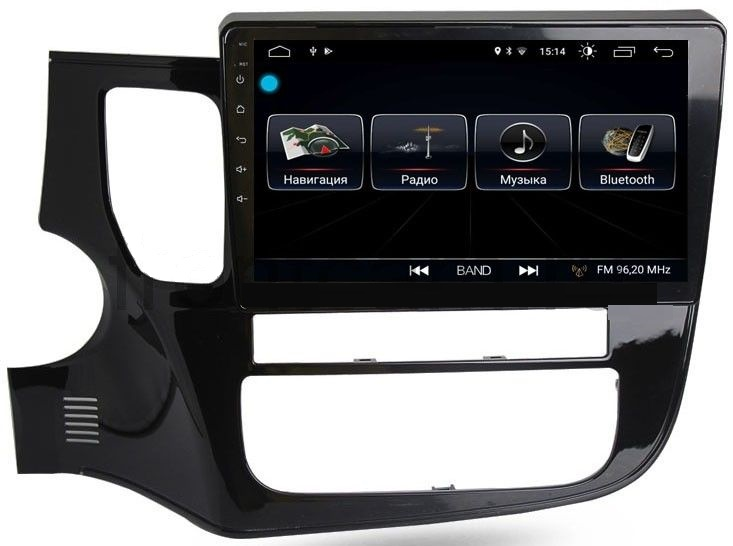 Штатная магнитола LeTrun 2177 для Mitsubishi Outlander III 2012-2018 Android 8.0.1 MTK-L 2Gb 7060b 7 inch 12v auto 2 din bluetooth tft screen car audio stereo mp3 mp4 mp5 player support aux fm usb sd mmc
