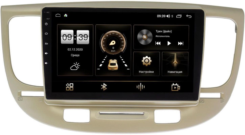 Штатная магнитола Kia Rio II 2005-2011 LeTrun 3792-9226 на Android 10 (4/64, DSP, QLed) С оптическим выходом (+ Камера заднего вида в подарок!)