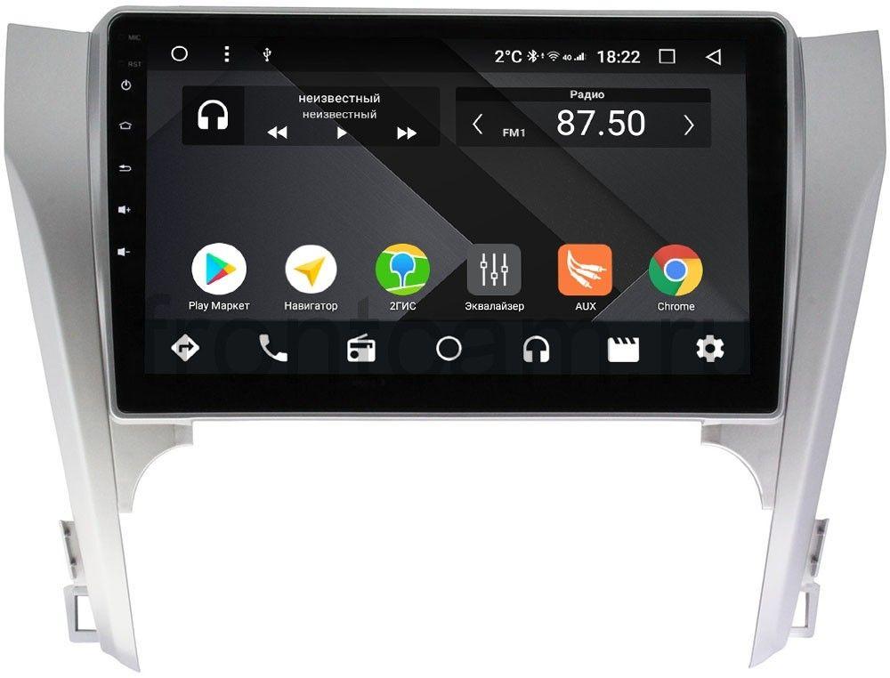 Штатная магнитола Toyota Camry V50 2011-2014 Wide Media CF1003-OM-4/64 на Android 9.1 (TS9, DSP, 4G SIM, 4/64GB) (для авто с камерой, JBL) (+ Камера заднего вида в подарок!)