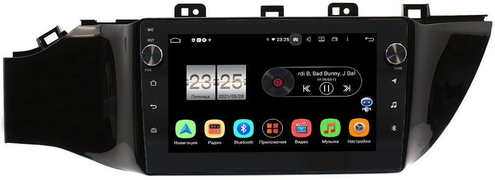 Штатная магнитола LeTrun BPX609-9078 Android 10 (4/64, DSP, IPS, с голосовым ассистентом, с крутилками) (без кнопки) для Kia Rio IV, Rio IV X-Line 2017-2019 (+ Камера заднего вида в подарок!)