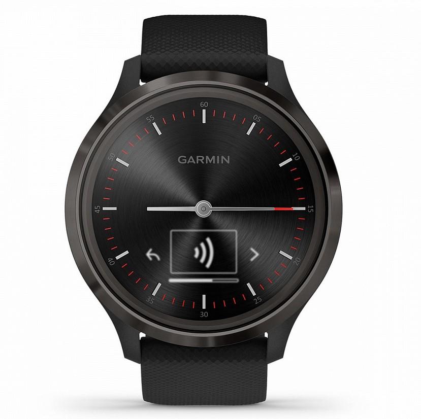 Garmin Vivomove 3 черные с черным силиконовым ремешком умные часы garmin vivomove 3 черные с черным силиконовым ремешком