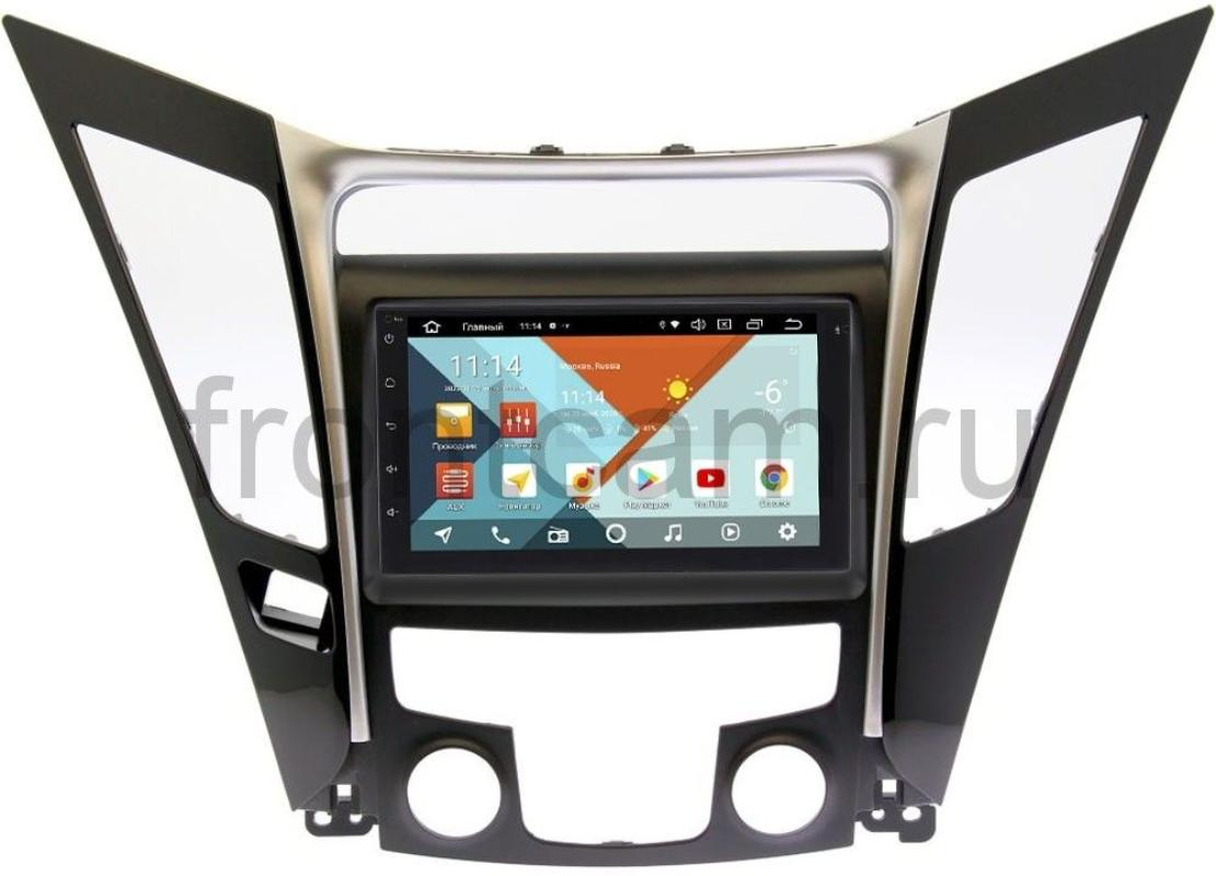 Магнитола для Hyundai Sonata VI (YF) 2009-2014 Wide Media KS7001QR-3/32-RP-HDSNE-104 на Android 10(DSP CarPlay 4G-SIM) (+ Камера заднего вида в подарок!)