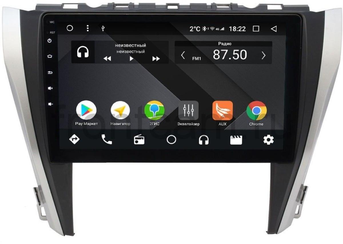 Штатная магнитола Wide Media CF1045PM-4/64 для Toyota Camry V55 2014-2018 (для авто без камеры) на Android 9.1 (TS9, DSP, 4G SIM, 4/64GB) (+ Камера заднего вида в подарок!)