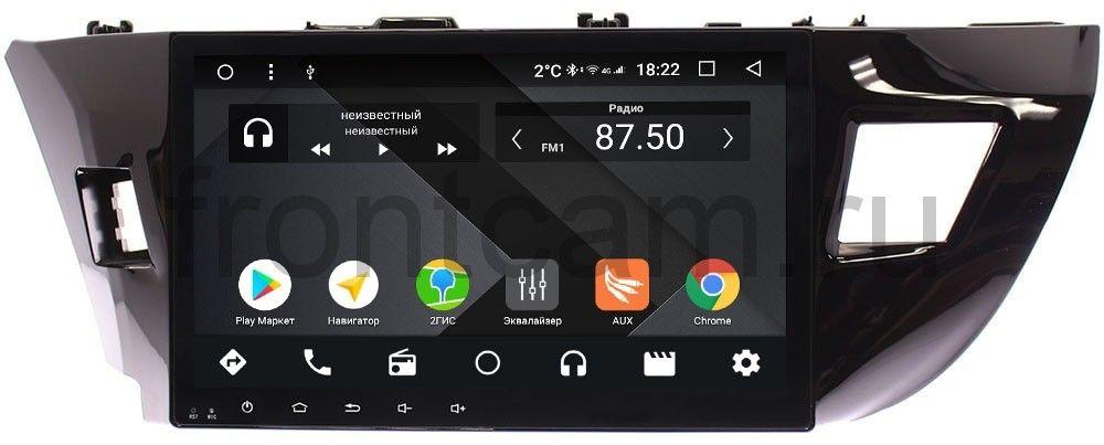 Штатная магнитола Toyota Corolla XI 2013-2015 Wide Media CF1005-OM-4/64 на Android 9.1 (TS9, DSP, 4G SIM, 4/64GB) (для авто без камеры) (+ Камера заднего вида в подарок!)