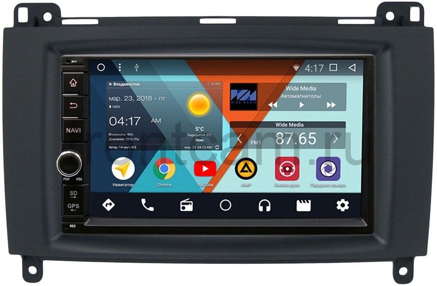 Штатная магнитола Wide Media WM-VS7A706-OC-2/32-RP-MRB-57 для Mercedes A-klasse (W169), B-klasse (W245), Vito, Viano, Sprinter 2004-2012 Android 8.0 (+ Камера заднего вида в подарок!)