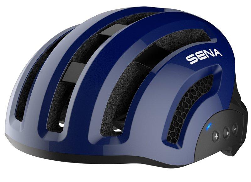 Велошлем со встроенной гарнитурой SENA SMART X1 (СИНИЙ)