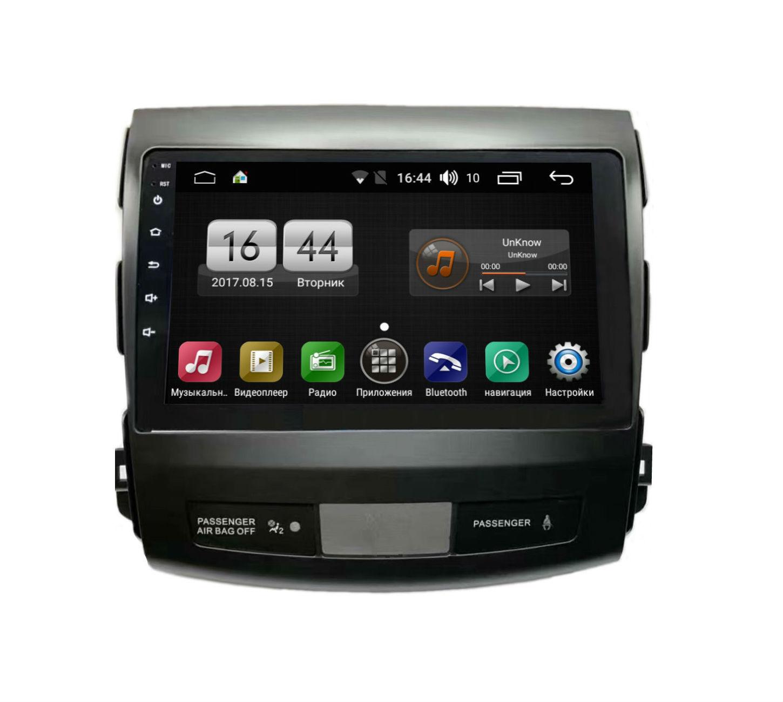 Штатная магнитола FarCar s175 для Mitsubishi Outlander XL,Citroen C-Crosser, Peugeot 4007 на Android (L056R) штатная магнитола farcar s170 для mitsubishi outlander xl citroen c crosser peugeot 4007 на android l056