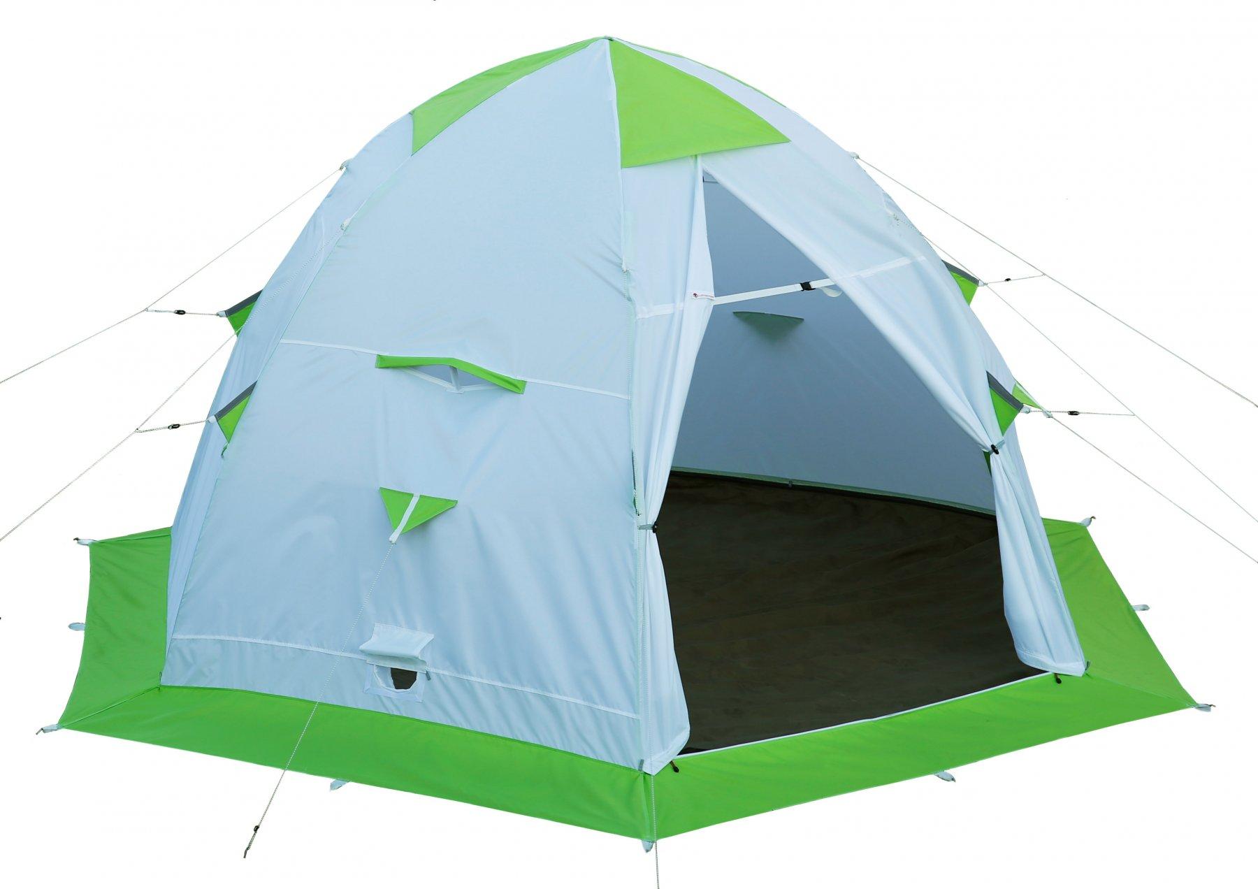 Зимняя палатка Лотос 5С с каркасом Л5-С12 (стеклокомпозитная арматура 12 мм) (+ Дарим комплект ввертышей для палаки.)