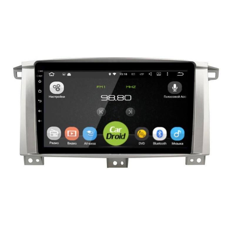 Штатная магнитола CarDroid RD-1123F для Toyota Land Cruiser 100 (Android 9.0) DSP (+ Камера заднего вида в подарок!)