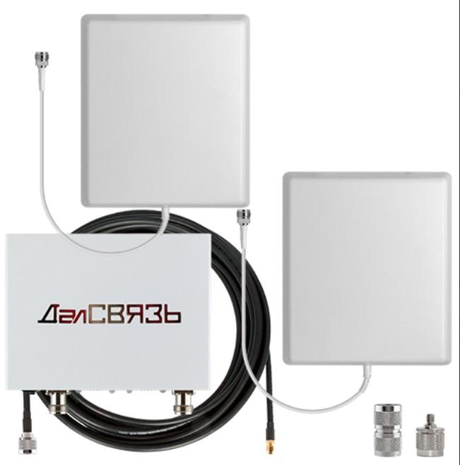 Комплект усиления GSM Далсвязь DS-1800/2100-10С3 (+ Кронштейн в подарок!)