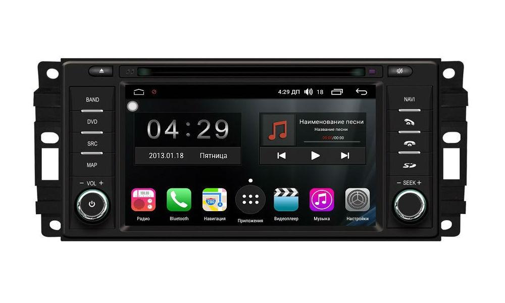 Штатная магнитола FarCar s300-SIM 4G для Jeep, Dodge, Chrysler на Android (RG202) (+ Камера заднего вида в подарок!)