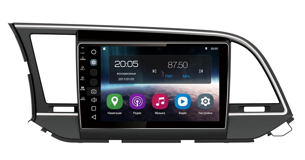 Штатная магнитола FarCar s200 для Hyundai Elantra 2016+ на Android (V581R) штатная магнитола farcar s130 для hyundai solaris 2010 r067