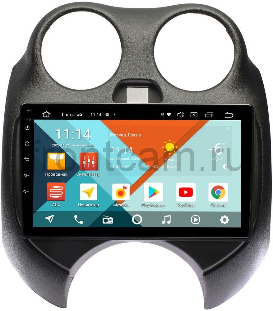 Штатная магнитола Nissan March IV (K13) 2010-2013 Wide Media KS9100QR-3/32 DSP CarPlay 4G-SIM на Android 10 (+ Камера заднего вида в подарок!)
