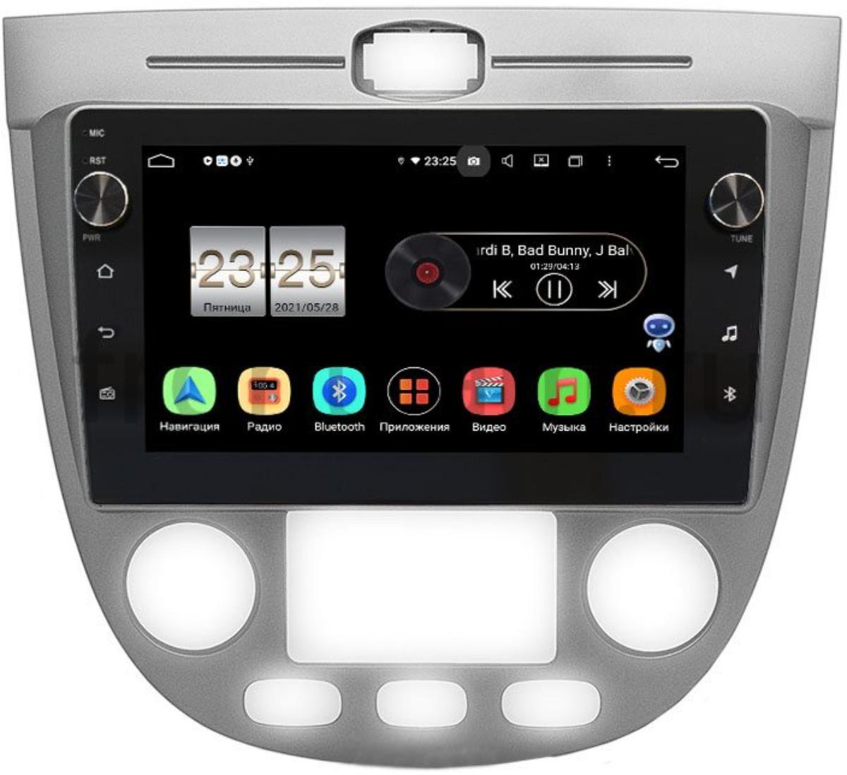 Штатная магнитола LeTrun BPX409-9-279 для Chevrolet Lacetti 2004-2013 (Тип 4) Универсал / Хэтчбек с климатом на Android 10 (4/32, DSP, IPS, с голосовым ассистентом, с крутилками) (+ Камера заднего вида в подарок!)
