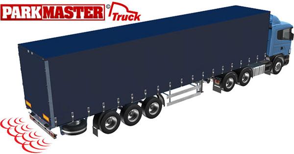 Система безопасной парковки для грузового транспорта ParkMaster Truck-04 (для ТС без прицепа, 4 датчика)