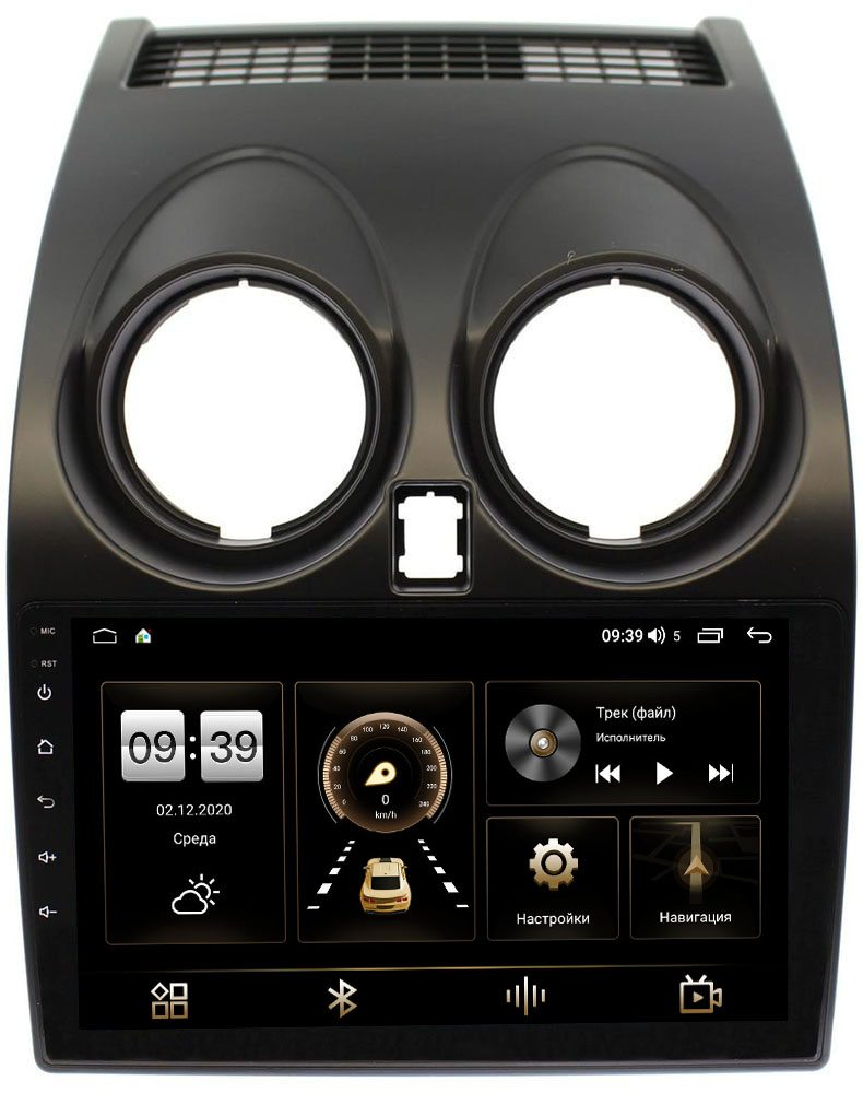 Штатная магнитола LeTrun 3792-9007 для Nissan Qashqai I 2007-2013 на Android 10 (4/64, DSP, QLed) С оптическим выходом (+ Камера заднего вида в подарок!)