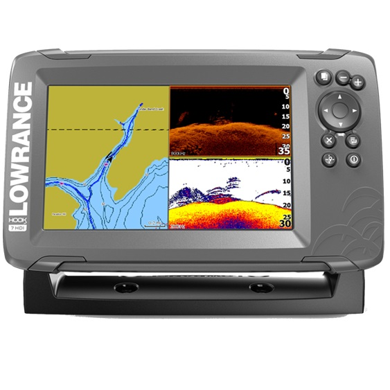 Lowrance HOOK2-7 with SplitShot Transducer (+ Аккумулятор + З/У + Струбцина)
