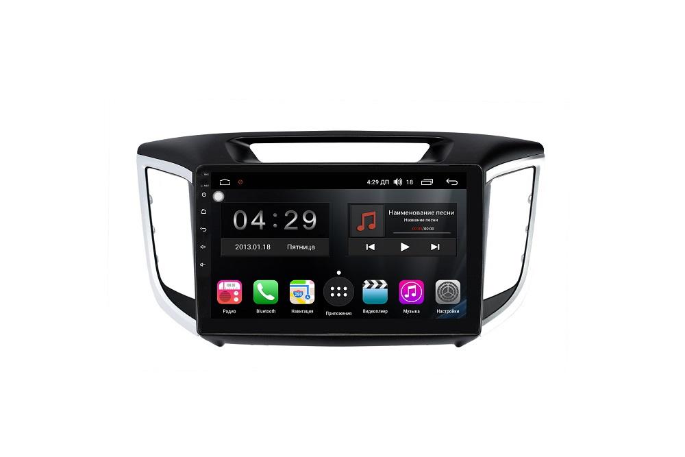 Штатная магнитола FarCar s300-SIM 4G для Hyundai Creta 2016+ на Android (RG407R) (+ Камера заднего вида в подарок!)