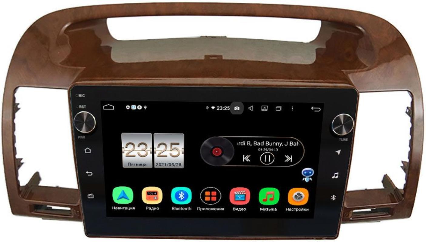 Штатная магнитола Toyota Camry V30 2001-2006 (под дерево) LeTrun BPX409-961 на Android 10 (4/32, DSP, IPS, с голосовым ассистентом, с крутилками) (+ Камера заднего вида в подарок!)